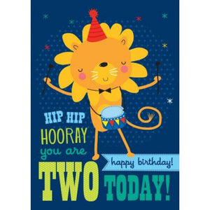 Little Red Owl Card Birthday 2nd Lion