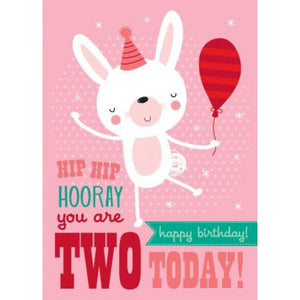 Little Red Owl Card Birthday 2nd Rabbit