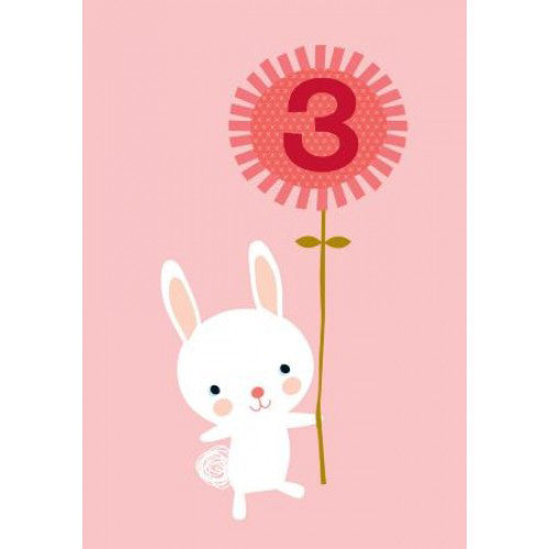 Little Red Owl Card Birthday 3rd Bunny