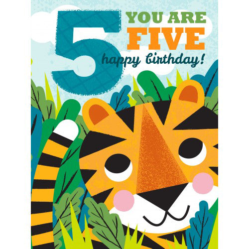 Little Red Owl Card Birthday 5th Tiger