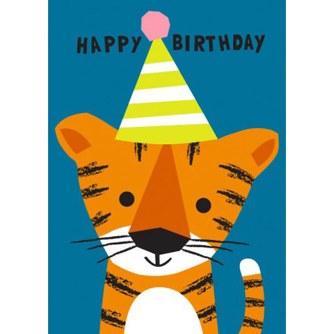 Little Red Owl Card Birthday Tiger