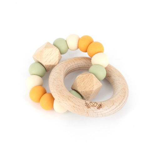 lluie hexx teething rattle mango tango - Chalk