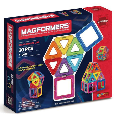 Magformers Basic Set Line 30Pcs - Chalk Melbourne