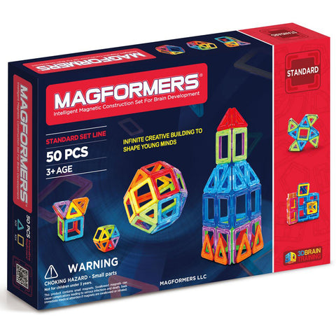 Magformers Basic Set Line 50Pcs - Chalk