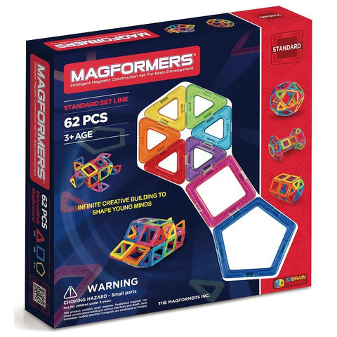 Magformers Basic Set Line 62Pcs - Chalk