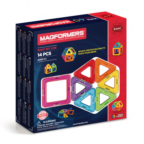 Magformers Basic Set Line 14Pcs - Chalk Melbourne