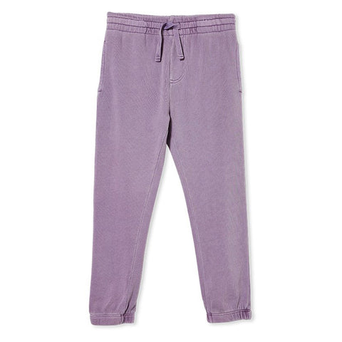 Milky Garment Dyed Track Pants Lilac