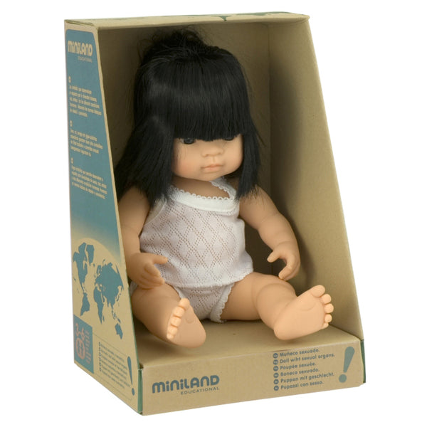 miniland doll 38cm asian girl - Chalk