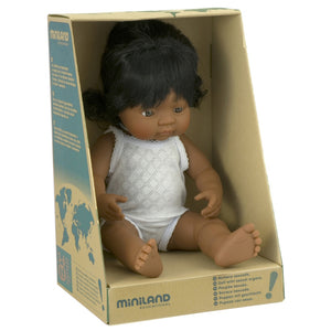 miniland doll 38cm hispanic girl