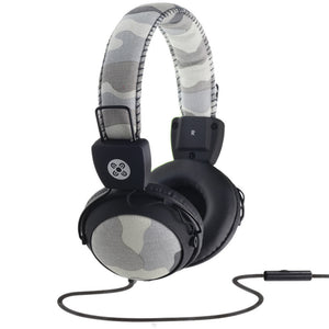 moki in-line mic headphones camo grey