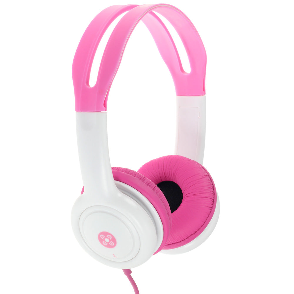 moki volume limited kids headphones pink - Chalk