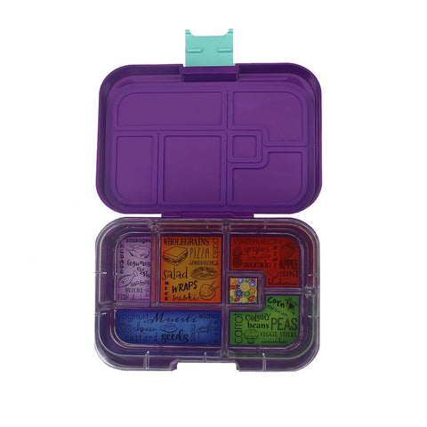 munchbox maxi6 lunchbox purple peacock - Chalk