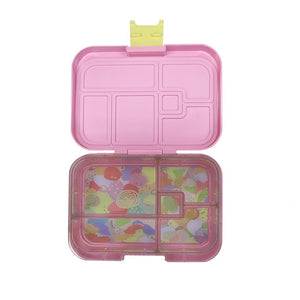munchbox midi5 lunchbox pink flamingo lemon latch