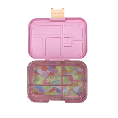 munchbox midi5 lunchbox pink flamingo apricot latch - Chalk