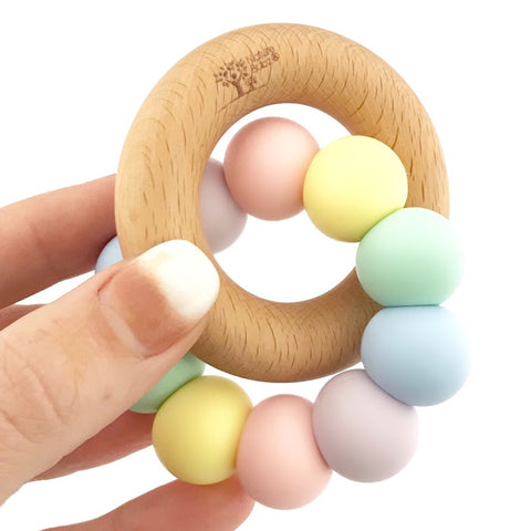 nature bubz teething toy unicorn pastel - Chalk