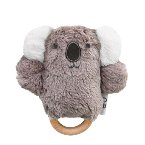 ob designs dingaring teething rattle kobe koala - Chalk