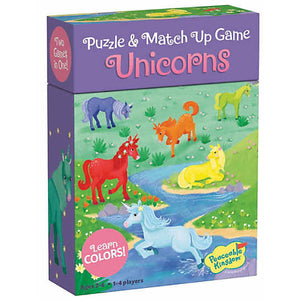 peaceable kingdom match up game unicorns