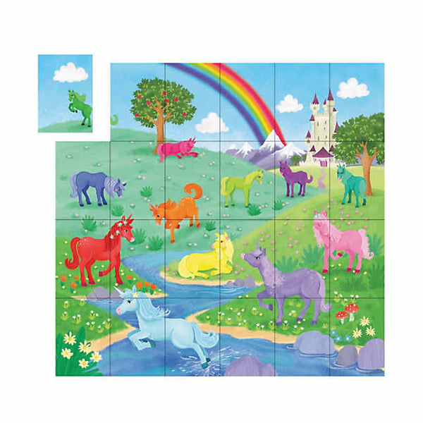 peaceable kingdom match up game unicorns - Chalk