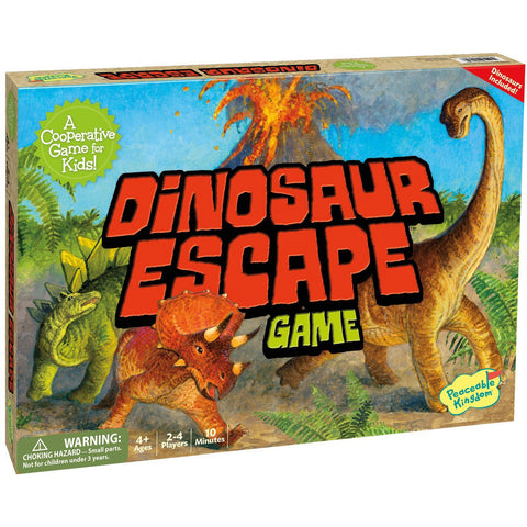 peaceable kingdom dinosaur escape board game - Chalk