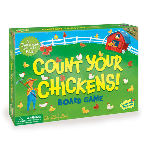peaceable kingdom count your chickens board game - Chalk