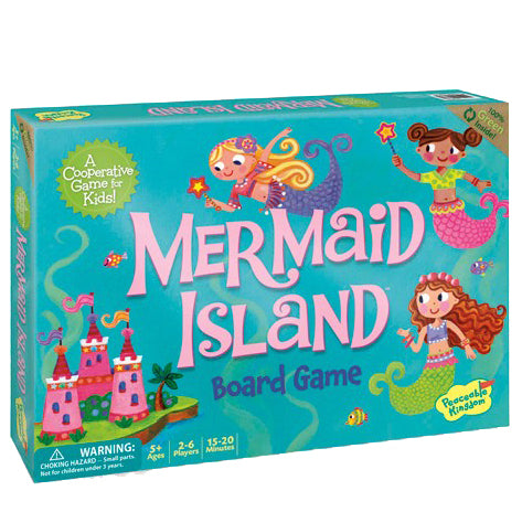 peaceable kingdom mermaid island board game - Chalk