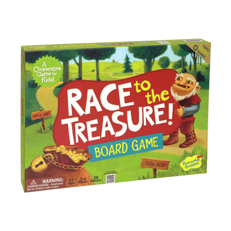peaceable kingdom race to the treasure board game - Chalk