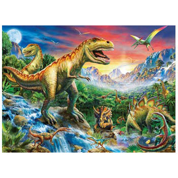 ravensburger puzzle 100pc time of the dinosaurs - Chalk