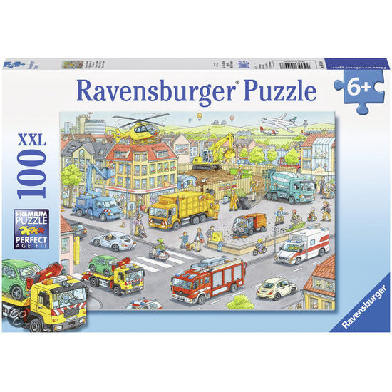 ravensburger puzzle 100pc vehicles in the city - Chalk