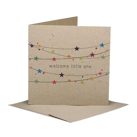 rhicreative card welcome little one - Chalk