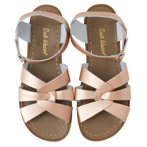 saltwater sandals rose gold - Chalk