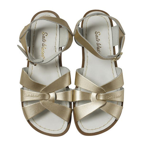 saltwater sandals gold - Chalk