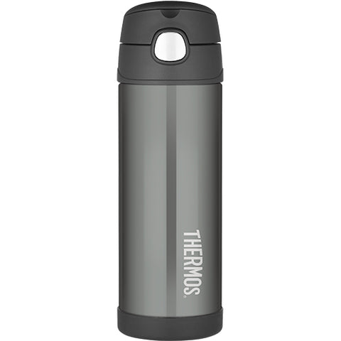 thermos 470ml insulated bottle charcoal - Chalk