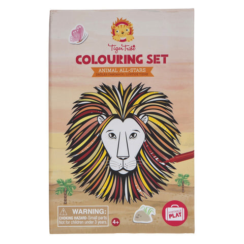 tiger tribe colouring set animal allstars - Chalk