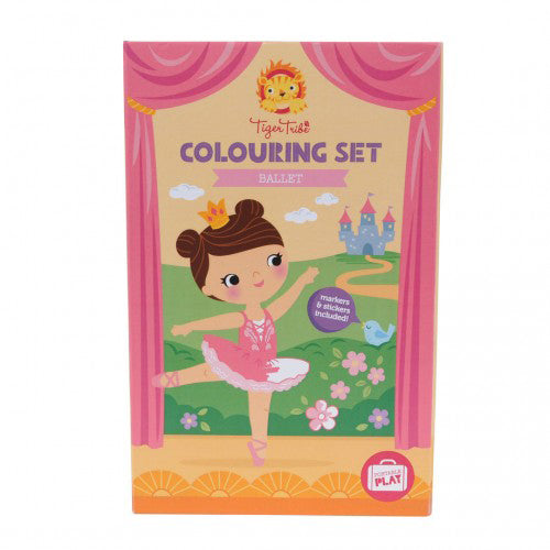 tiger tribe colouring set ballet - Chalk
