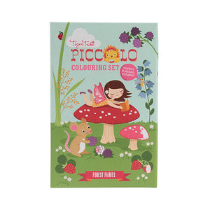 tiger tribe colouring set forest fairies