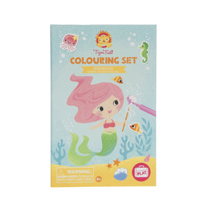 tiger tribe colouring set mermaids
