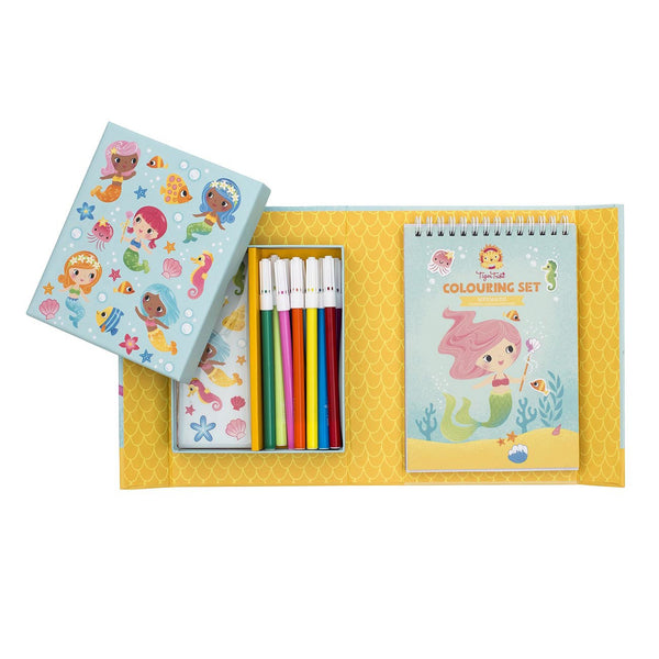tiger tribe colouring set mermaids - Chalk