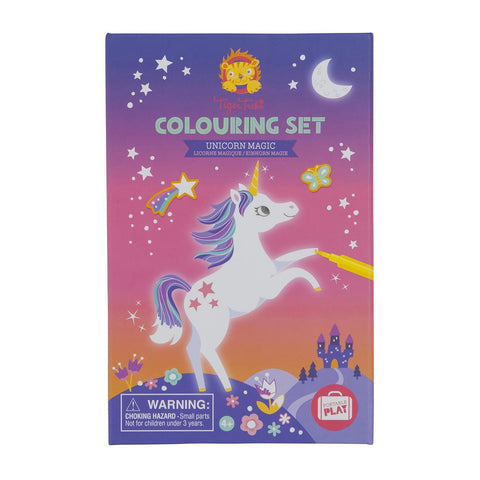 tiger tribe colouring set unicorn - Chalk
