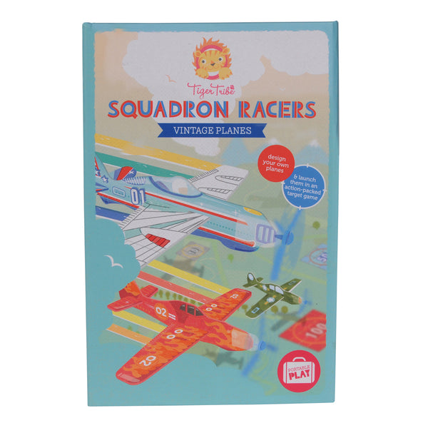 tiger tribe squadron racers vintage planes - Chalk