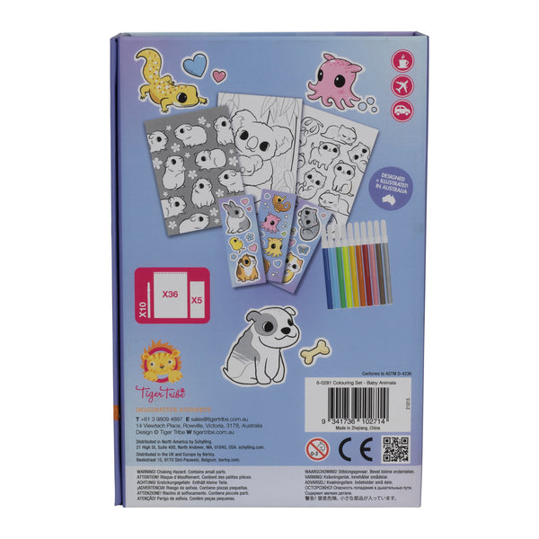 Tiger Tribe Colouring Set Baby Animals