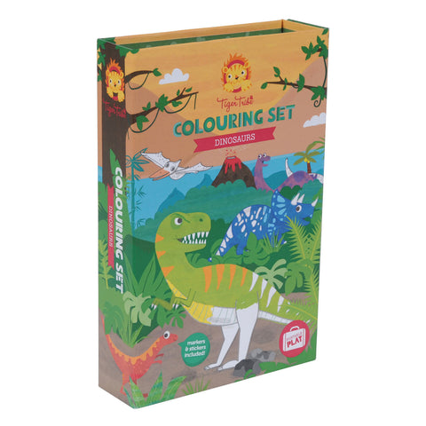 tiger tribe colouring set dinosaurs - Chalk