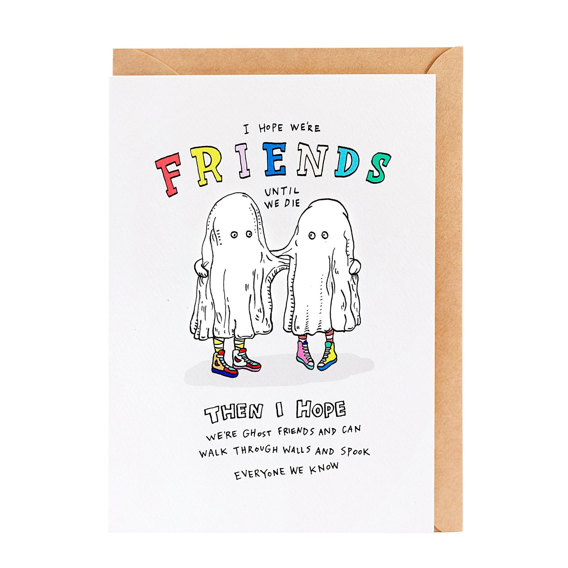 wally card ghost friends - Chalk