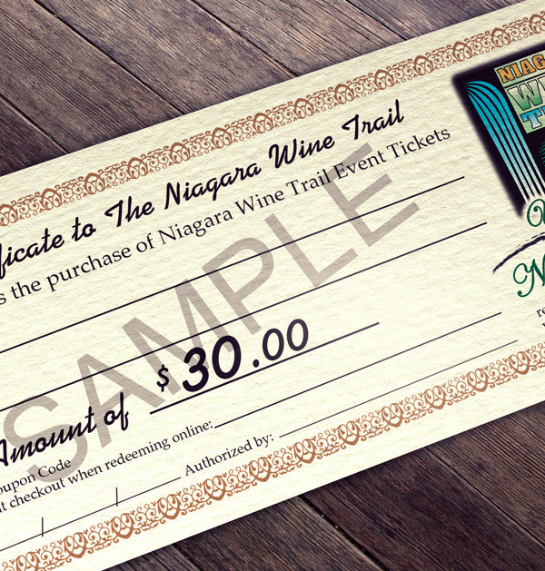 Event Gift Certificate