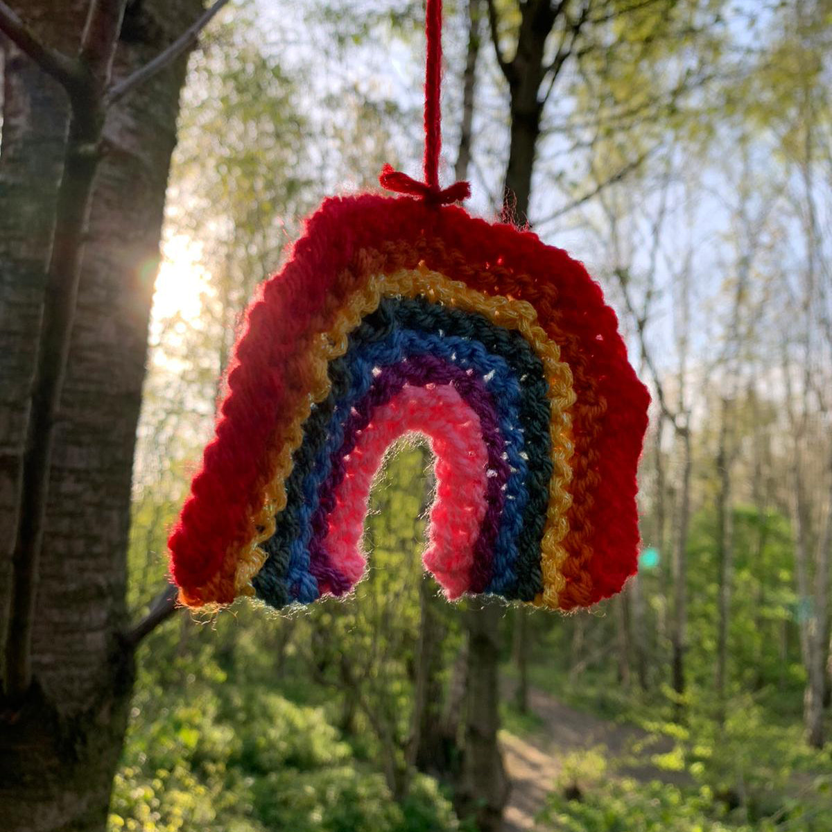 Mini Rainbow Knitting Pattern