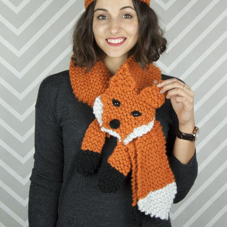 Fox Scarf Knitting Kit