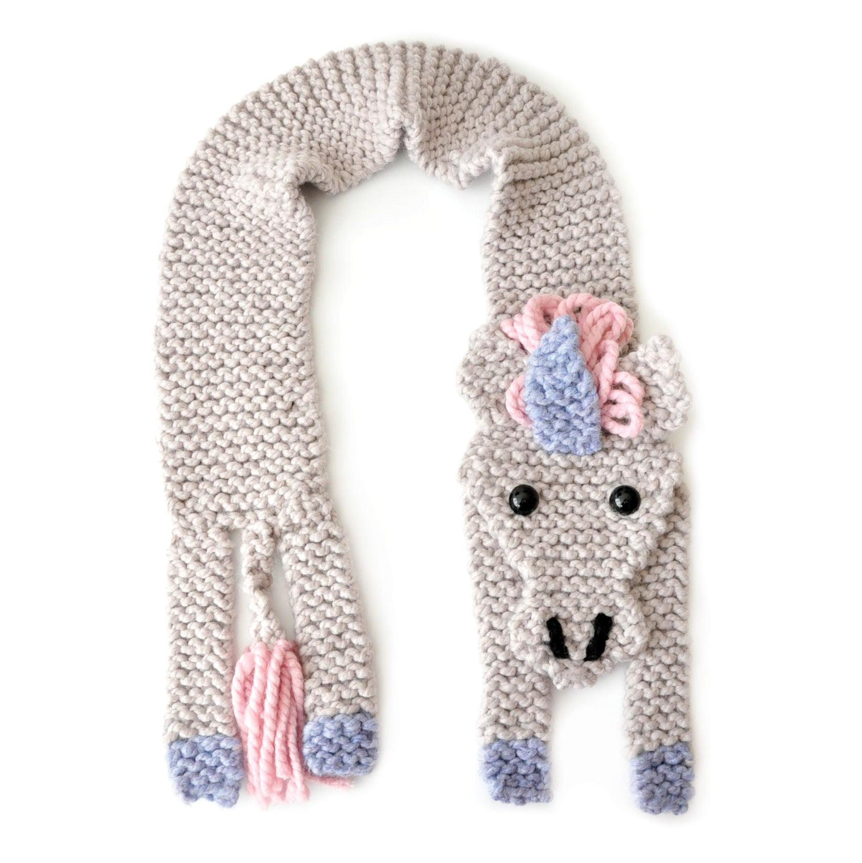 Unicorn Scarf Knitting Kit (4641483358340)