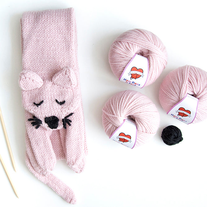 Cat Scarf Knitting Kit