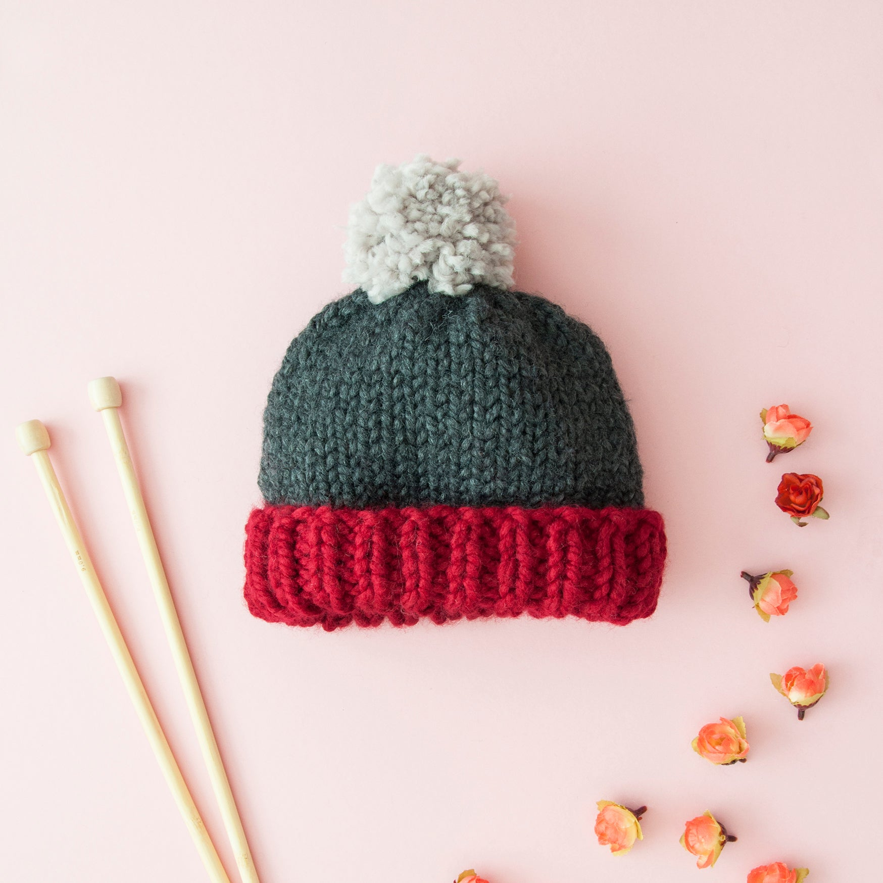 Colour Block Hat Knitting Kit (4640682705028)