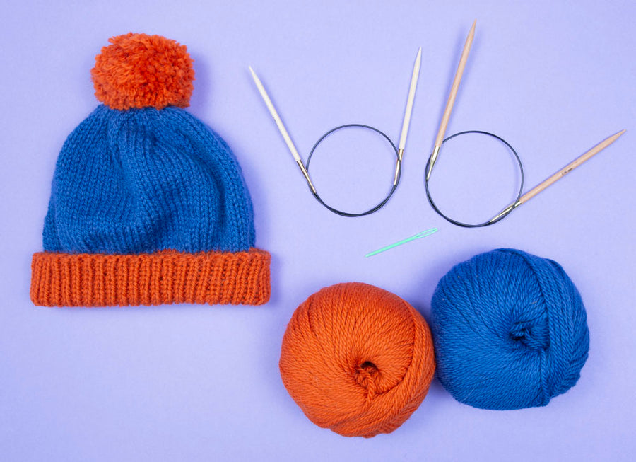 Project 7 Bobble Hat Kit - First Time Knits (5389436485789)
