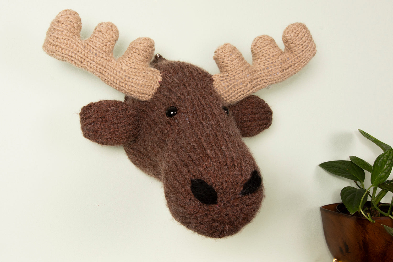 Giant Moose Head Knitting Kit (5889275855005)